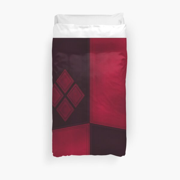 Harlequins and Stitches Rolling Around in Ditches Duvet Cover