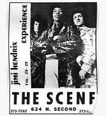 Retro Advertisement for A Band at The Scene 1960's Poster