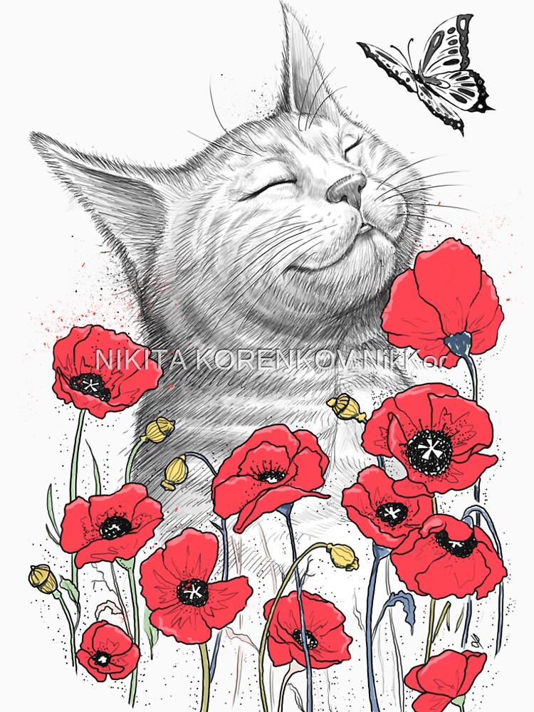 Cat in poppies von NikKor
