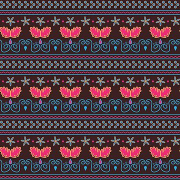 Abstract floral pattern by craftmania