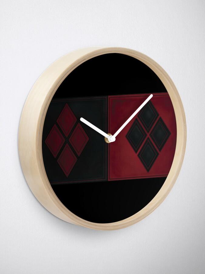Alternative Ansicht von Patchwork Red & Black Leder Effekt Motley mit Diamant Patches 4 Uhr