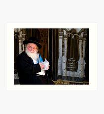 Rabbi and His Scrolls Art Print