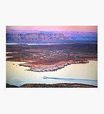 Boat Cruise at Lake Powell in Page, Arizona USA Photographic Print