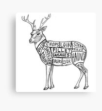 deer meat charts Canvas Print