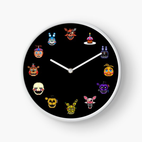 Five Nights at Freddy's - Pixel art - Multiple Characters Clock