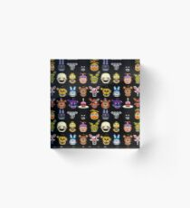 Five Nights at Freddy's - Pixel art - Multiple Characters Acrylic Block