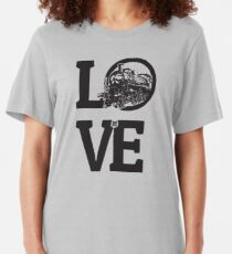 Love Railway Modelling Design For Model Railroading Fans Slim Fit T-Shirt