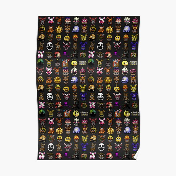 Five Nights at Freddy's - Pixel art - Multiple Characters New Set Poster