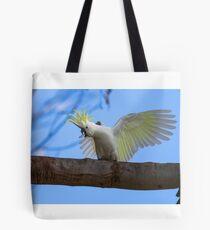 Sulphur Crested Cockatoo with Attitude Tote Bag