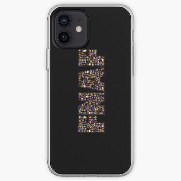 Five Nights at Freddy's - Pixel art - FNAF Typography black BG iPhone Soft Case