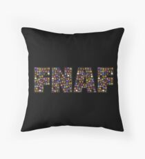 Five Nights at Freddy's - Pixel art - FNAF Typography black BG Throw Pillow