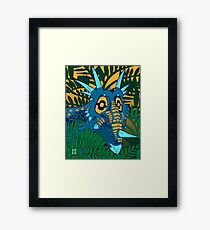 Styracosaurus Jungle Framed Print