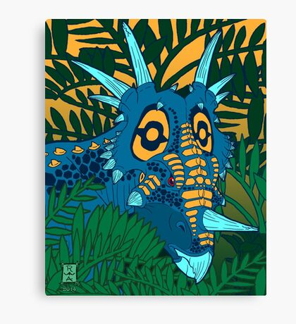 Styracosaurus Jungle Canvas Print
