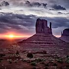 Sunrise at Monument Valley by Kathy Weaver