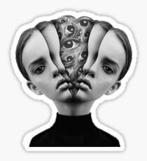 split face Sticker
