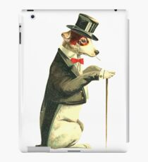 Vintage dog with clothes iPad Case/Skin
