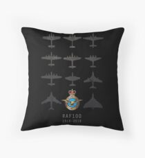 RAF100 - The Bombers Throw Pillow