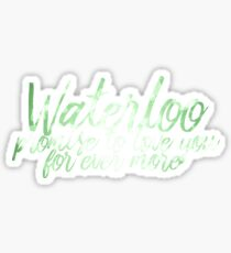 Waterloo Sticker