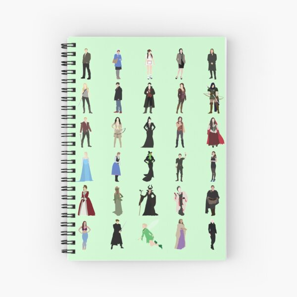 Once Upon A Time icons Spiral Notebook