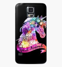 Funda/vinilo para Samsung Galaxy Spirit Animal Unicorn Glitter Design