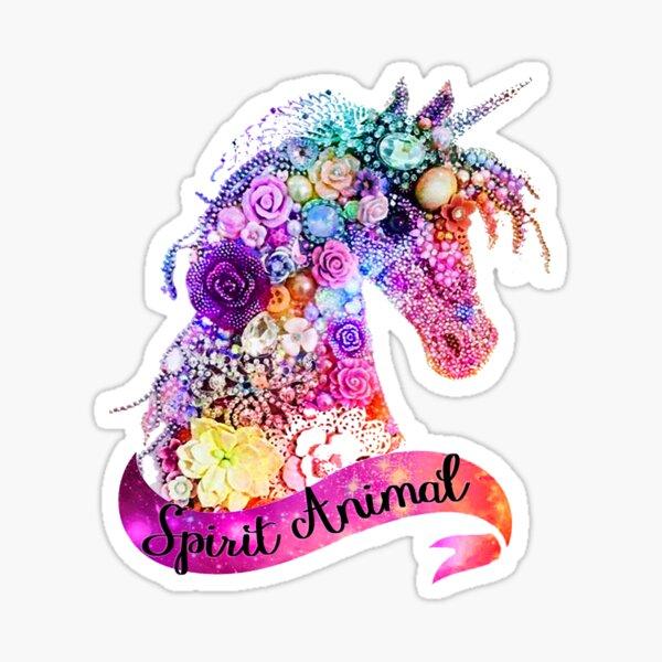 Conception de paillettes animaux Spirit Unicorn Sticker