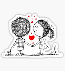 Couple in Love Together Sticker