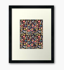 Bright floral pattern with birds Framed Print