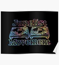 Junglist Movement - Tye Dye Sketch Poster