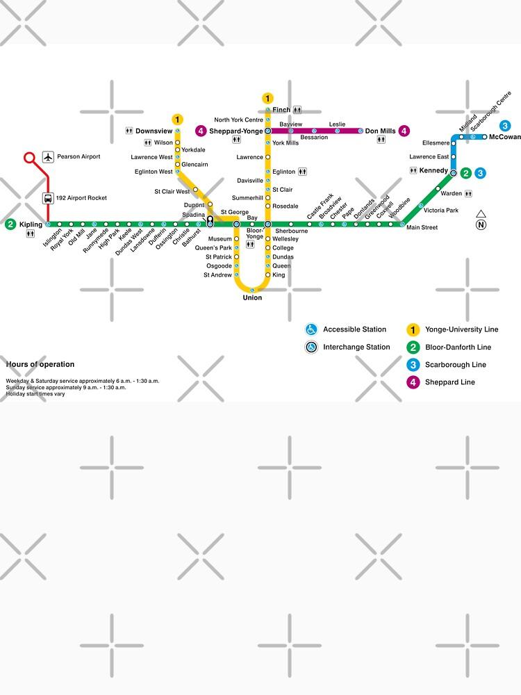 Subway Map Canada Toronto.Toronto Subway Map Canada Classic T Shirt