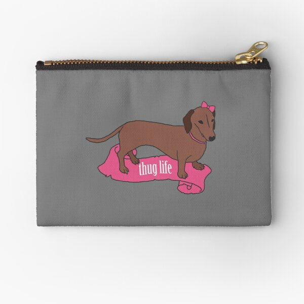 Thug Life - Vaguely Menacing Puppies with Bows #2 Zipper Pouch