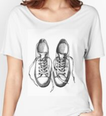 Sneakers, dot drawing Women's Relaxed Fit T-Shirt