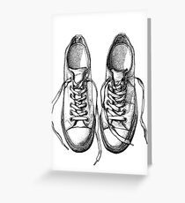 Sneakers, dot drawing Greeting Card