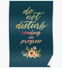 DO NOT DISTURB: READING IN PROGRESS Poster