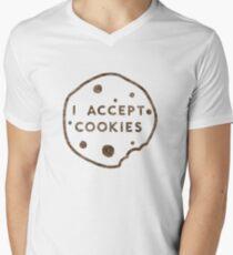 Ich akzeptiere Cookies T-Shirt mit V-Ausschnitt für Männer