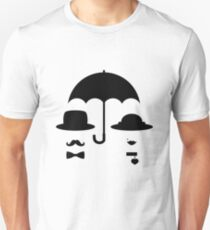Lady and gentleman under the umbrella Unisex T-Shirt