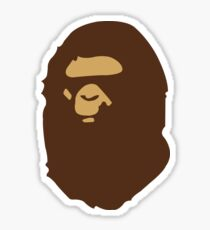 Bape Gorilla Head Sticker