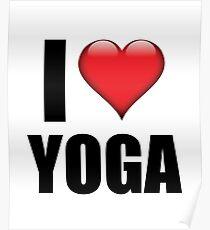 I Love Yoga heart symbol tshirt cute training gift Poster