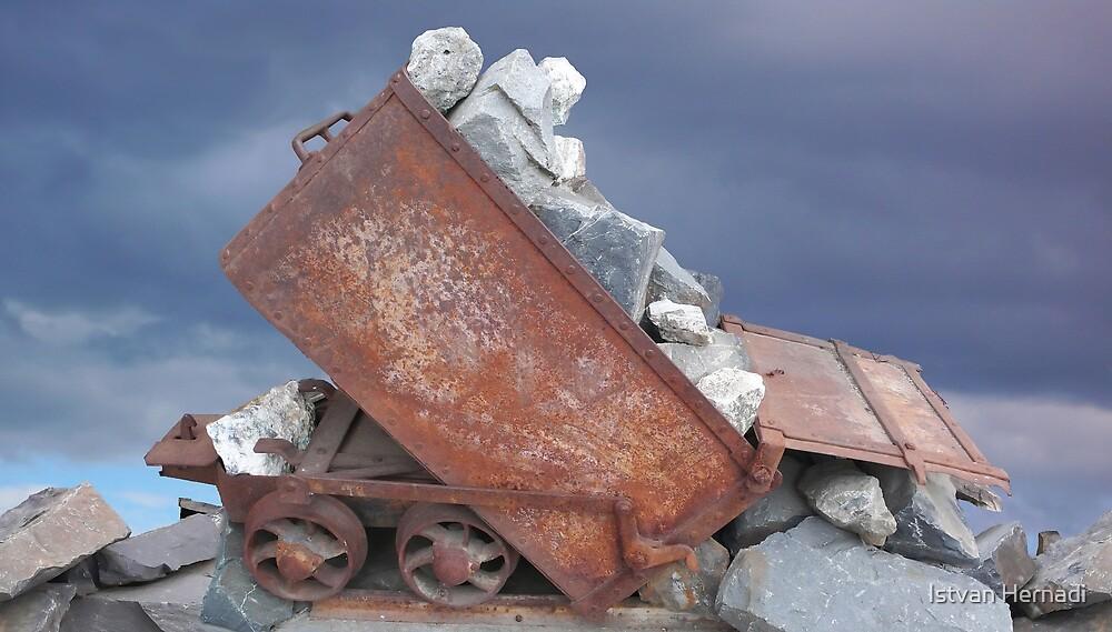mining ore cart by Istvan Hernadi