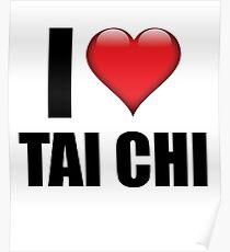 I Love Tai Chi tshirt cute martial arts gift Poster