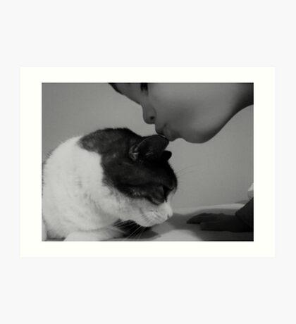 A Kiss for Beavis Art Print