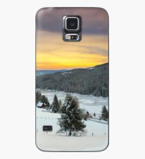 December sunrise over the mountain lake Case/Skin for Samsung Galaxy