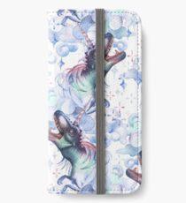 Two watercolor Dinocorns iPhone Wallet/Case/Skin