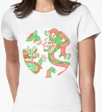 Battling Dragons Women's Fitted T-Shirt