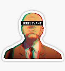 Irrelevant - Sad Japanese Aesthetic Sticker