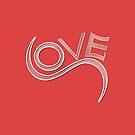 Love text on pink background. by ikshvaku