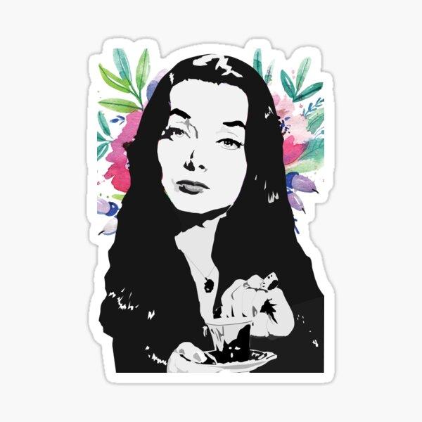 Morticia (the Addams family) Carolyn Jones Sticker