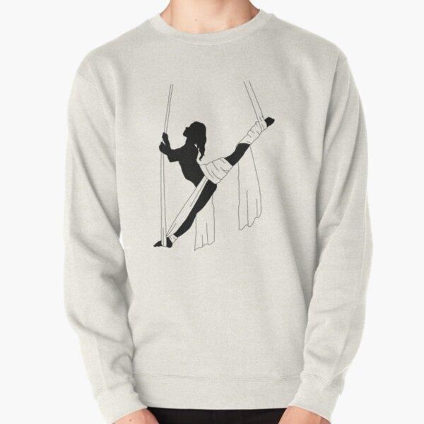 Splits Roll Up Silhouette Pullover Sweatshirt
