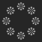 Snow flakes on grey background  by ikshvaku