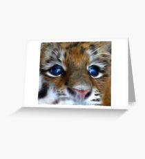 Amur Tiger Cub Greeting Card