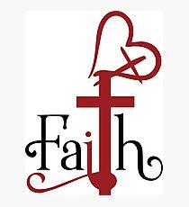 Faith in God and Faith in Love Photographic Print
